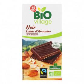 Chocolat noir éclats d'amandes pérou BIO VILLAGE 100g