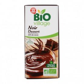 Chocolat Pâtissier Bio Village Noir - 52% cacao - 200g