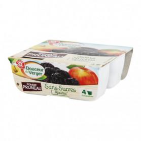 Purées pomme pruneaux - Douceur du Verger - 4 x 100 g