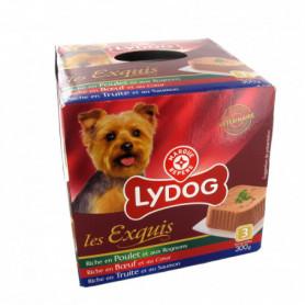Barquette chiens Lydog 3 saveurs - 3x300g