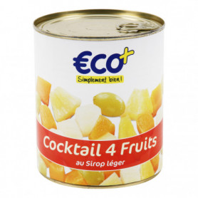 COCKTAIL 4 FRUITS AU SIROP ECO+ 500GRS