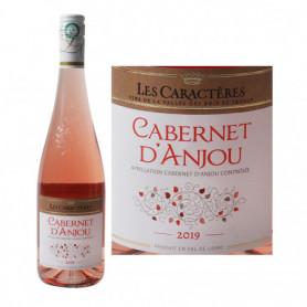 Vin rosé Les Caractères Cabernet d'Anjou AOC - 75cl