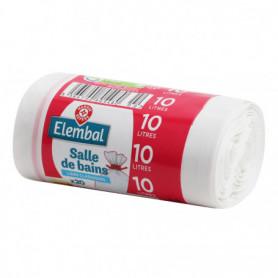 Sacs poubelle 10L Elembal Salle de bain - x20