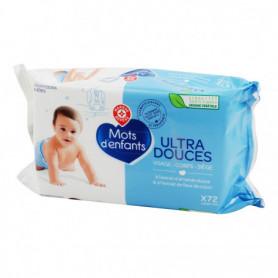 LINGETTES BEBE  - ULTRA DOUCE -  MOTS D'ENFANTS x 72