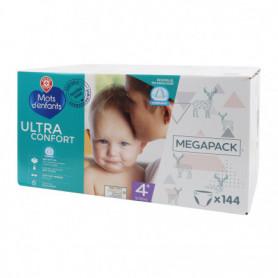 COUCHES BEBE Ultra Confort - Mots d'Enfants - T4+  9/20Kg X 144