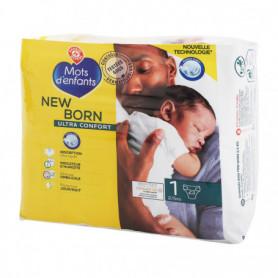 Change bébé - MOTS D'ENFANTS - Nouveau né - T1 - 2/5kg - x23