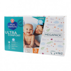 COUCHES BEBE  Ultra Confort - MOTS D'ENFANTS - T3 - 4/9Kg X 162