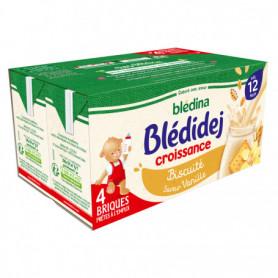 Lait et céréales bébé dès 12 m - biscuité vanille BLEDINA 4x250ml