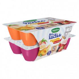 Dessert Mini lactés BLEDINA 12x55g Fruits rouges/Fruits du soleil dès 12 mois