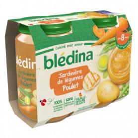 BLEDINA POTS SALES Jardinière de Légumes Poulet 2x200g  - Dès 8 Mois