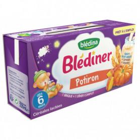 BLEDINER Lait 2x250ml potiron - Dès 6 mois