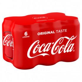 Canettes Coca Cola - 6x33cl