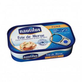 FOIE DE MORUE FUME BOIS 120 GRS NAUTILUS