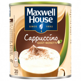 CAPPUCCINO GOUT NOISETTE CAFE SOLUBLE MAXWELL HOUSE 305 GRS