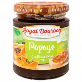 Confiture Papaye extra Royal Bourbon 250Grs