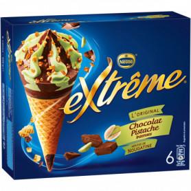 Cônes Extrême X6 Chocolat Pistache Intense 426g