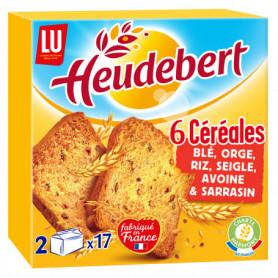 Biscottes aux 6 Céréales Heudebert LU 300grs