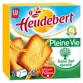 Biscottes Sans Sel Ajouté  Pleine Vie Heudebert LU 300grs