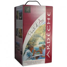 Vin rouge Ardèche Rouge Pont d'Arc IGP 5L
