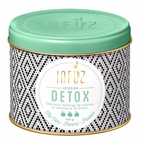 Infusions Détox - Thé Vert Pomme Passion Infuz 100Grs