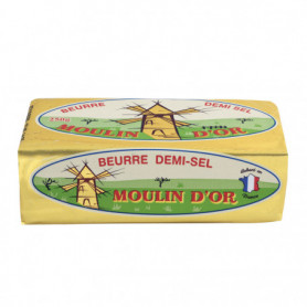 BEURRE 1/2 SEL 82%MG 250G - MOULIN D'OR