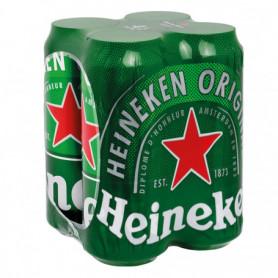 Bières Heineken 4X50CL Canettes