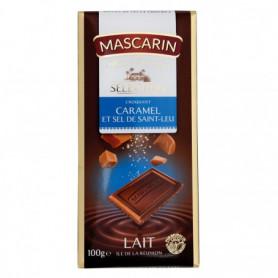 TABLETTE DE CHOCOLAT CROQUANT CARAMEL ET SEL MASCARIN 100GRS