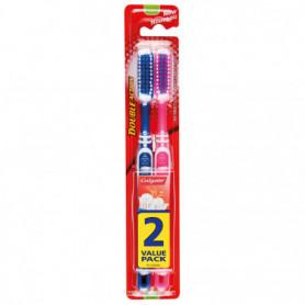 Brosse à dents double action x2 COLGATE