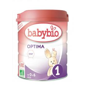 Lait biologique OPTIMA  1  BABYBIO pour  nourrisson de 0 à 6 mois - 800G