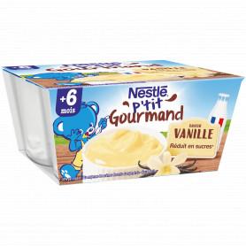 NESTLE P'TIT GOURMAND Saveur Vanille - 4 x 100g - Dès 6 mois