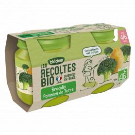 BLEDINA LES RECOLTES BIO Brocolis Pommes de Terre 2x130g Dès 4/6 Mois