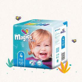 COUCHES MAGICS FLEXIDRY T4 - Maxi 9-11 Kg  x 31