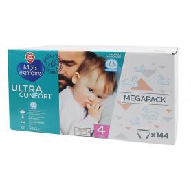 COUCHES BEBE MEGA Ultra Confort  - MOTS D'ENFANTS - 7/18KG Nr.4  X 144