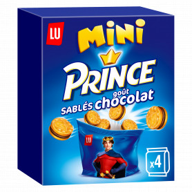 BISCUIT FOURRE GOUT CHOCOLAT MINI PRINCE (4X40GRS) LU 160GRS