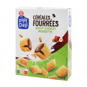 Céréales fourrées goût choco noisette - P'tit Déli- 450gr