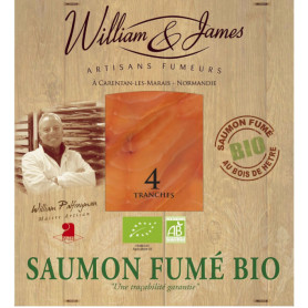 Saumon fumé bio - William & James - 100 g