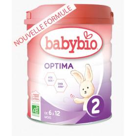 Lait biologique OPTIMA  2  BABYBIO 2ème 900G