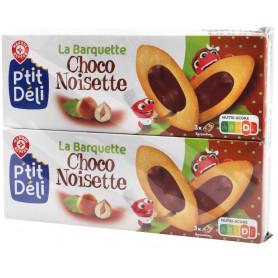 BARQUETTE AU CHOCOLAT NOISETTE- PTIT DELI- 2X120GR