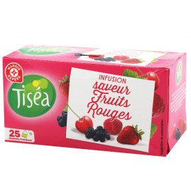 INFUSION FRUITS ROUGES 25 SACHETS- TISEA- 40GR
