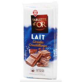 CHOCOLAT AU LAIT ET AU RIZ -TABLE OR- 2X100GR