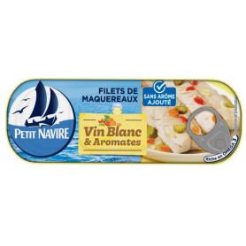 Filets de maquereaux vin blanc et aromates - Petit Navire 175gr