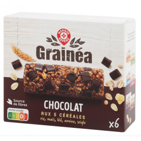 BARRES CEREALES CHOCOLAT NOIR GRAINEA 156GR