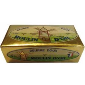 BEURRE DOUX PLAQ 82% MG MOULIN D'OR 250G