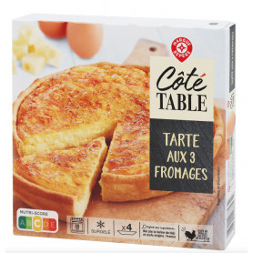 TARTE 3 FROMAGE - COTE TABLE - 400G