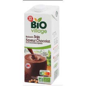 BOISSON AU SOJA SAVEUR CHOCOLAT BIO - BIO VILLAGE - 1L